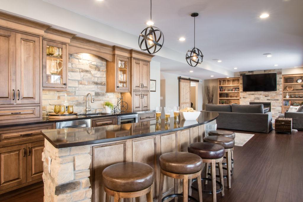 Custom Basement Bar by Liston Design Build