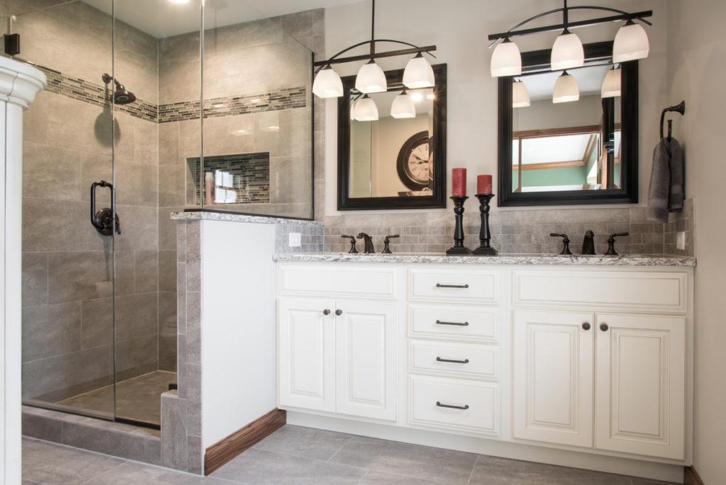 bathroom cabinets after bath renovation
